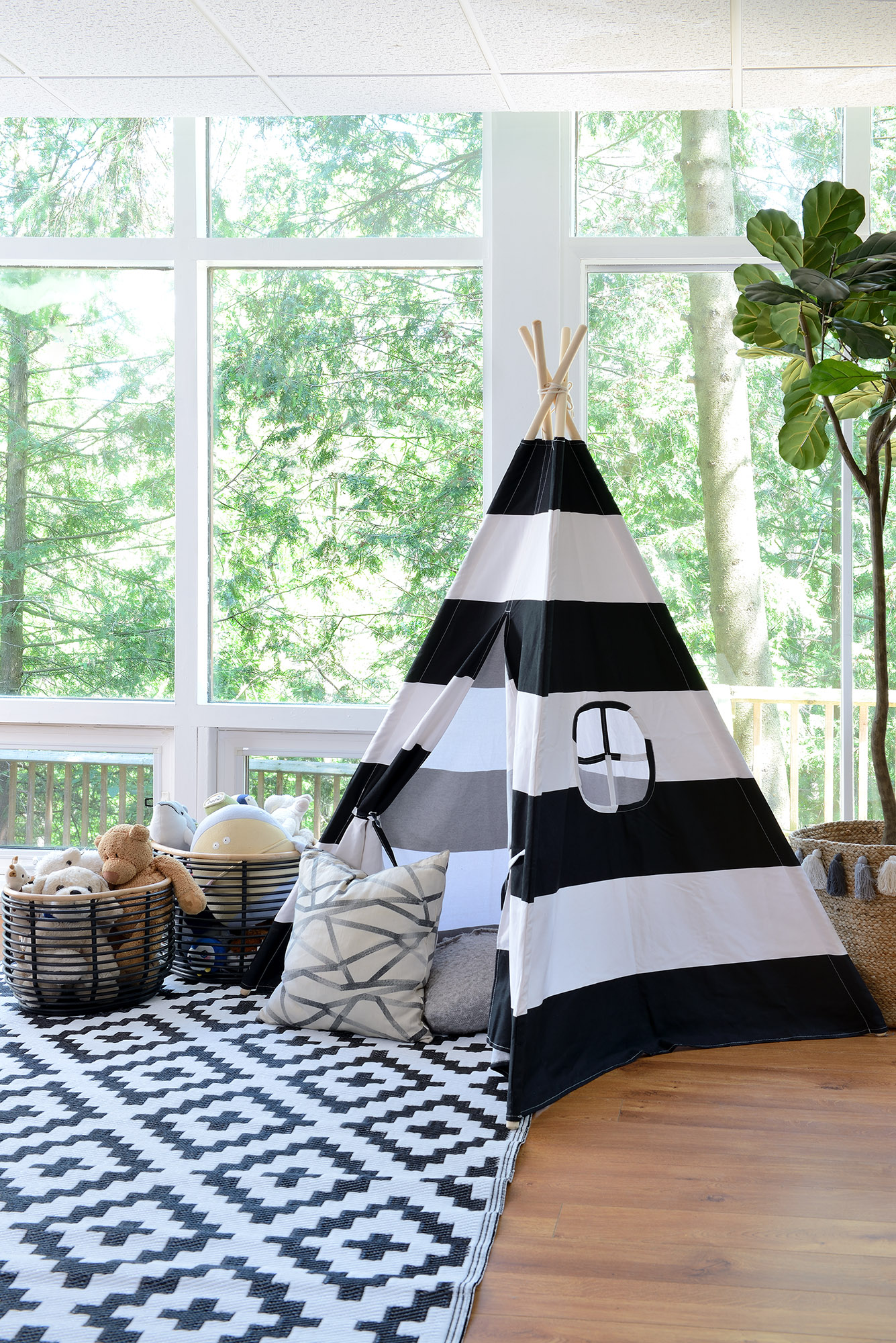 Lisa Canning basement teepee playroom