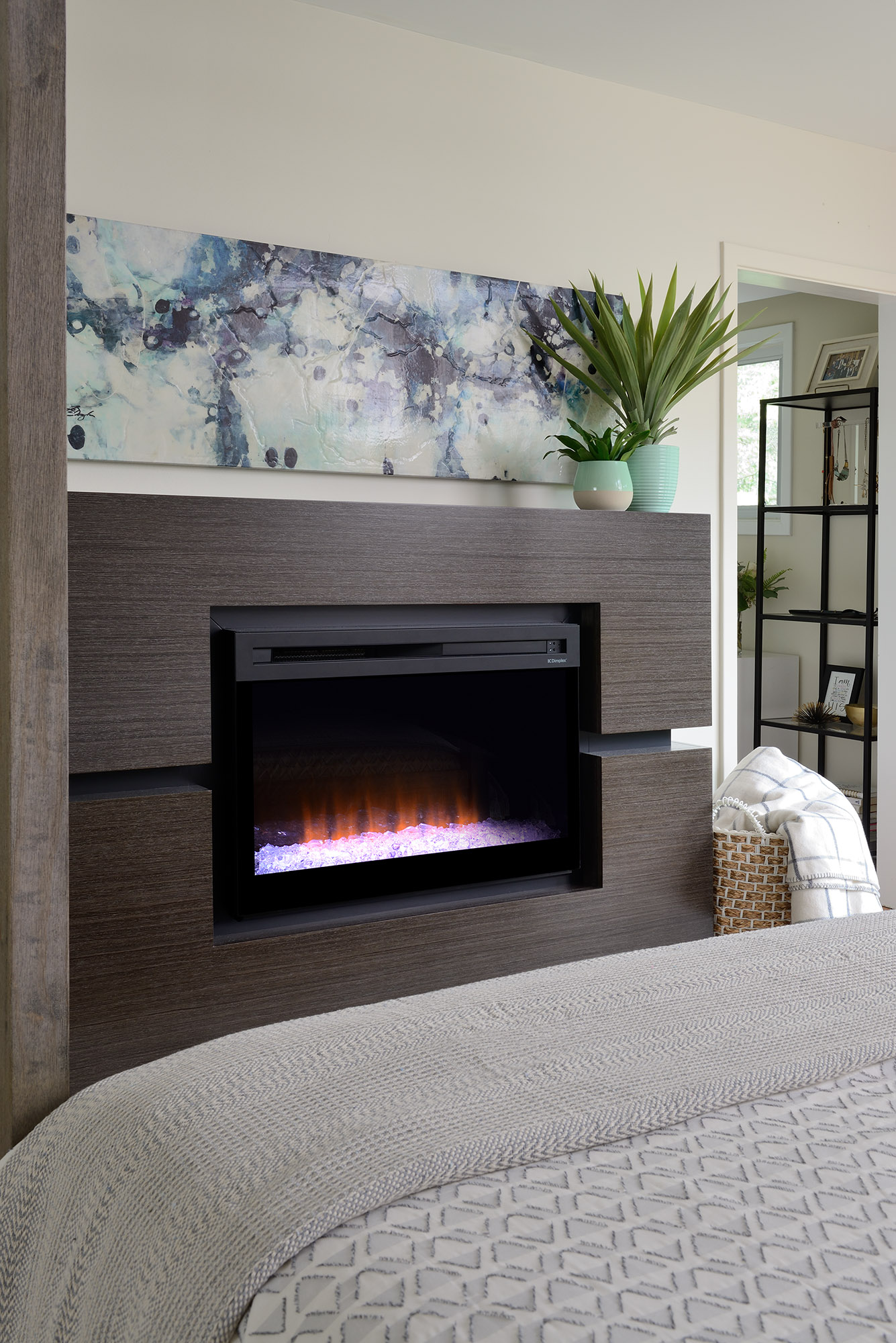 Lisa Canning Dimplex fireplace