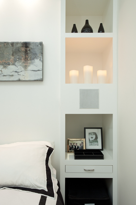 Lisa Canning's interior design work for King ST W Loft (Bedroom)