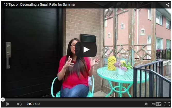 WATCH LISA TALK SMALL SPACE OUTDOOR DECOR TIPS